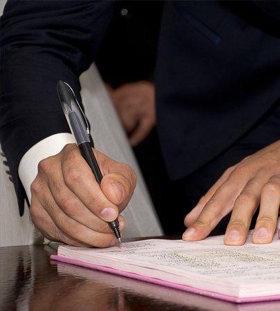 Signature qui représente l'accord